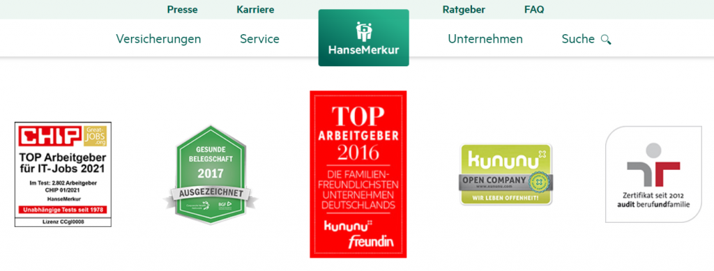 Hanse Merkur Great Jobs Arbeitgebersiegel
